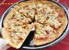 西班牙辣肠脆底披萨