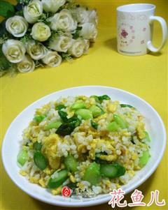 芦笋鸡蛋炒饭