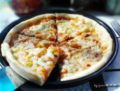 泡菜五花肉披萨
