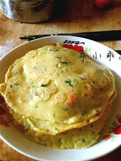 胡萝卜蔬菜鸡蛋饼