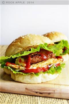 番茄猪排汉堡包