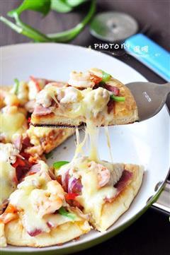 培根海鲜披萨