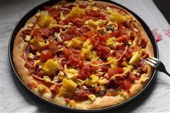 番茄火腿披萨