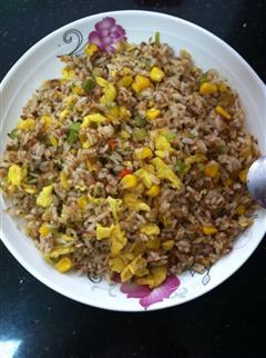 玉米肉松蛋炒饭
