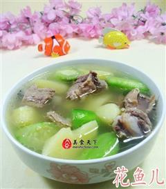 丝瓜土豆排骨汤