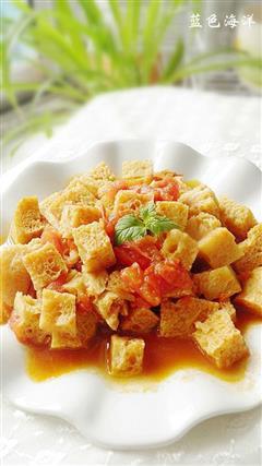 西红柿炒面筋