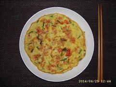 香葱鸡蛋虾仁煎饼