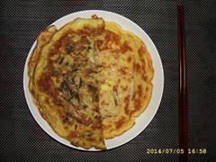 梅菜笋丝鸡蛋煎饼