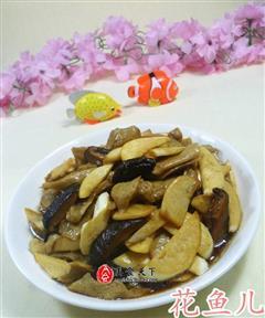 香菇茭白炒面筋