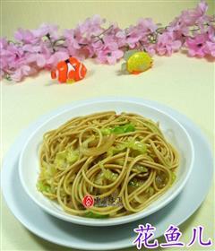 洋葱圆白菜炒面