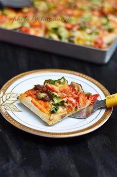 秋葵牛肉披萨