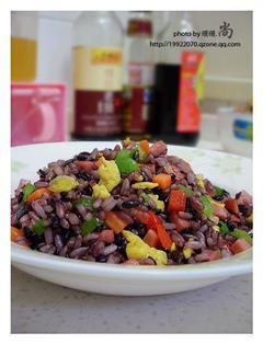 五彩紫米蛋炒饭