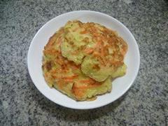 椰丝胡萝卜鸡蛋饼