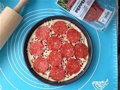 铁盘Pepperoni披萨