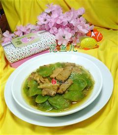 沙茶酱肉片炒莴笋