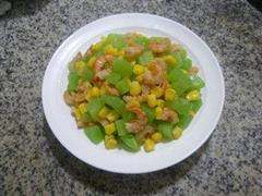 开洋玉米粒炒莴笋