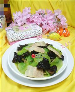肉片黑木耳炒莴笋