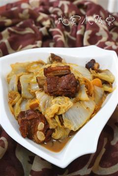 红烧排骨炖白菜