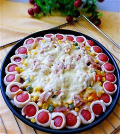 玉米培根金枪鱼披萨