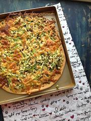 龙利鱼青酱披萨