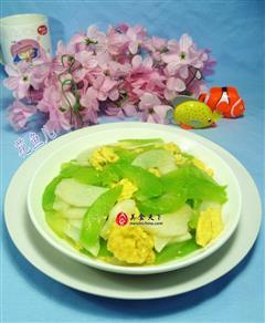 鸡蛋山药炒莴笋