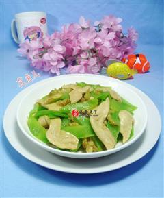榨菜大豆蛋白炒莴笋
