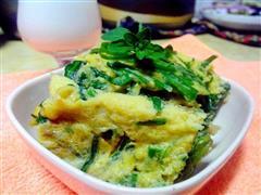 韭菜煎鸡蛋饼