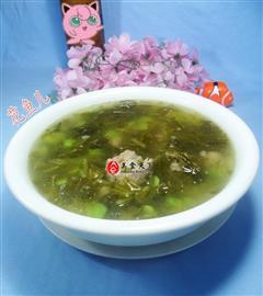 雪菜蚕豆排骨汤