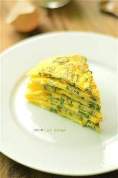 秋葵鸡蛋饼