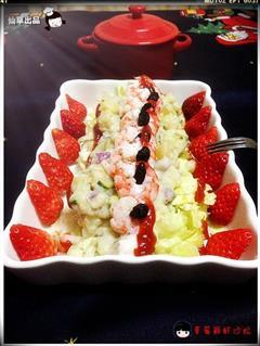 草莓鲜虾沙拉