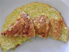 韭黄鸡蛋饼