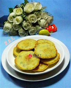 香葱培根玉米粉煎饼