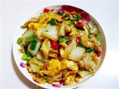 香辣白菜烩鸡蛋