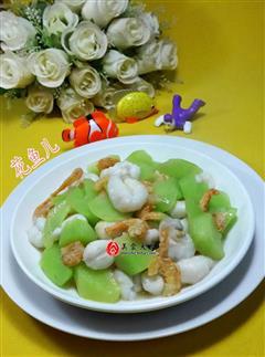 开洋目鱼蛋炒莴笋
