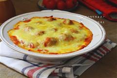 茄汁肉丸焗土豆泥