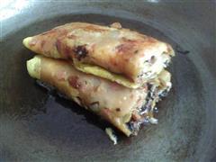 橄榄菜鸡蛋饼