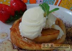 香草冰淇淋苹果派