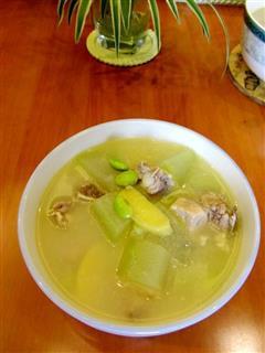 毛豆冬瓜排骨汤