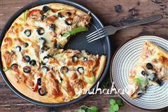 香辣金枪鱼披萨