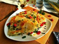 饺子皮版葱油饼