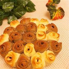 烤玫瑰花馒头