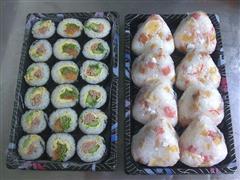 寿司和饭团