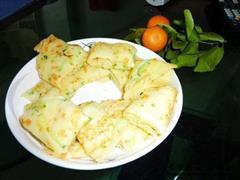 黄瓜丝豆渣煎饼