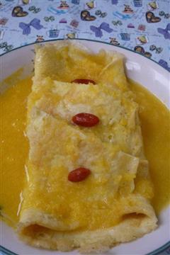 香橙鸡蛋饼
