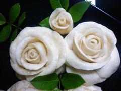 椰香玫瑰馒头