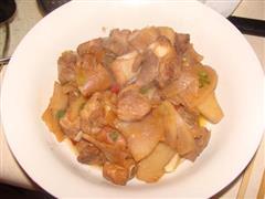 红烧排骨萝卜片