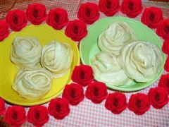 奶香玫瑰馒头