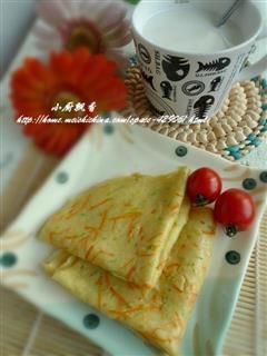 胡萝卜笋瓜煎饼