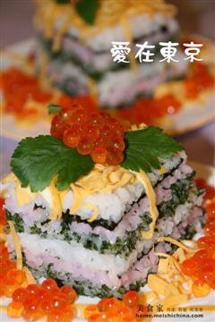 五彩寿司蛋糕