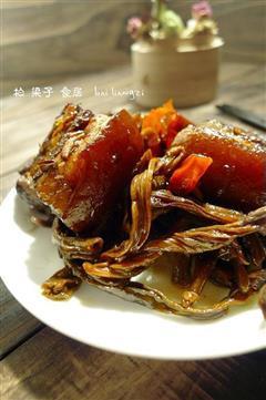 红烧肉焖豆角干